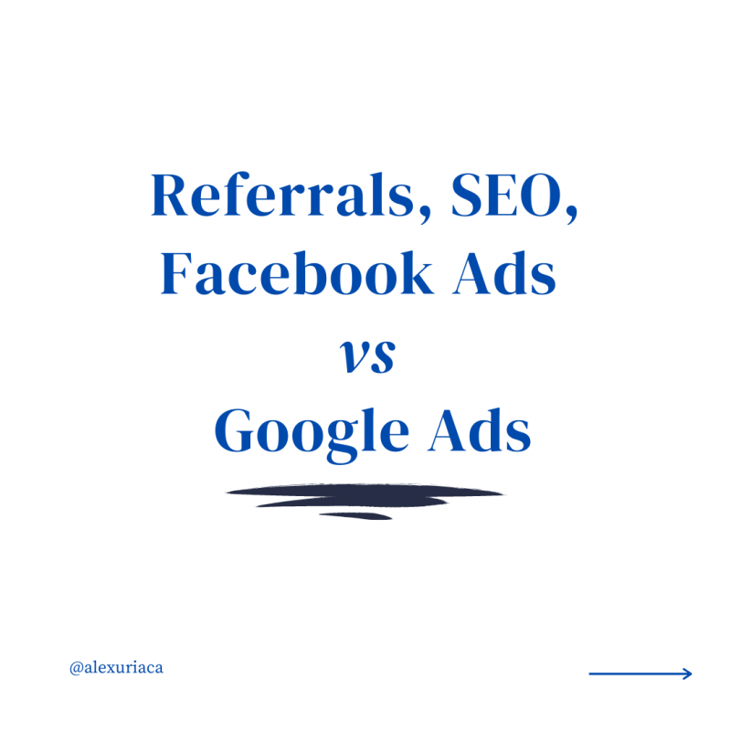 facebook ads, seo, google ads